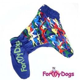 Комбинезон Разноцветная палитра утепленный для собак
