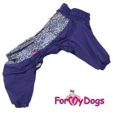 Комбинезон фиолетовый мопс для мальчиков