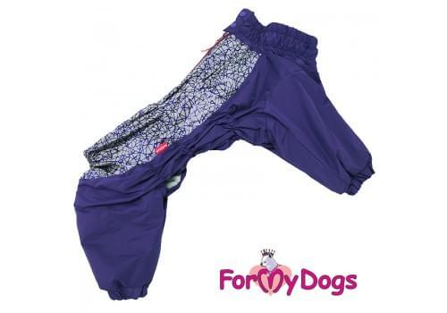Комбинезон фиолетовый мопс для мальчиков теплый для собак породы мопс, французский бульдог