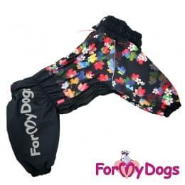 Комбинезон Листики теплый для собак