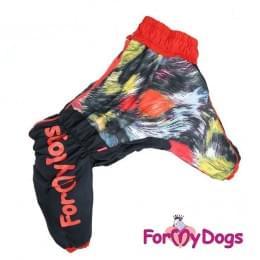 Комбинезон Пятнышки утепленный для собак