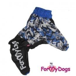Комбинезон Синий камуфляж утепленный для собак