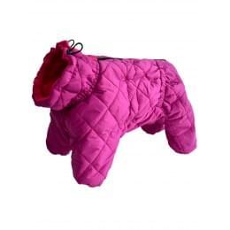 Стеганный комбинезон JackyDogy на девочку зимний на синтепоне и флисе для собак