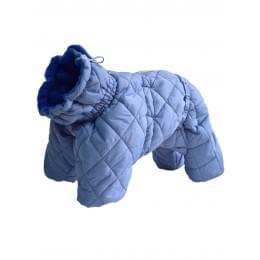 Стеганный комбинезон ДжекиДоги на мальчика зимний на синтепоне и флисе для собак