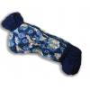 Комбинезон Голубые Пионы зимний на синтепоне и флисе для собак породы такса и вельш корги