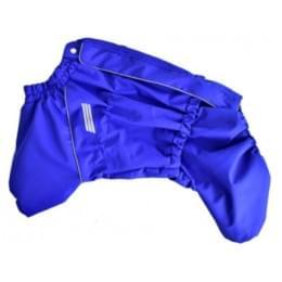 Дождевик Синий ДжекиДог мембранный на гладком подкладе для собак