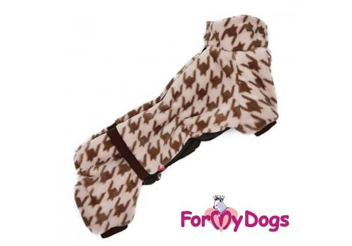 Комбинезон Бежевый теплый для собак породы такса
