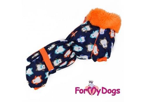 Комбинезон Пингвинчики теплый для собак породы такса