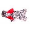 Дождевик Клякса осенний с капюшоном для собак породы мопс, французский бульдог, бигль, вест хайленд терьер, джек рассел, кокер спаниэль, фокстерьер, цвергшнауцер, шарпей, шотландский терьер