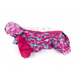 Дождевик PinkFly непромокаемый с капюшоном для собак