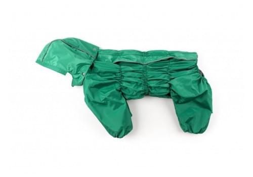 Дождевик Green непромокаемый с капюшоном для собак породы бигль, шарпей, чау-чау, кокер спаниель, английский бульдог