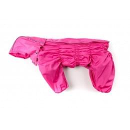 Дождевик Розовый непромокаемый с капюшоном для собак
