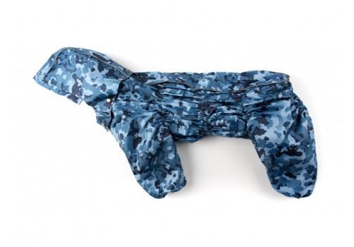 Дождевик MascaHit непромокаемый с капюшоном для собак породы бигль, шарпей, чау-чау, кокер спаниель, английский бульдог