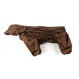 Дождевик Brown непромокаемый с капюшоном для собак