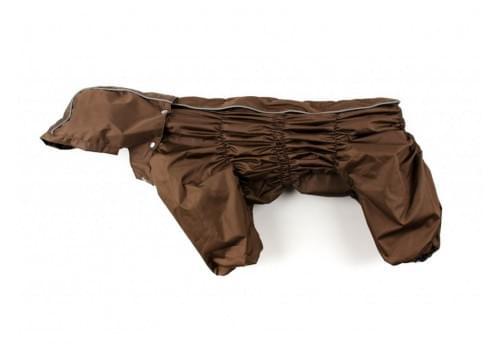 Дождевик Brown непромокаемый с капюшоном для собак породы бигль, шарпей, чау-чау, кокер спаниель, английский бульдог