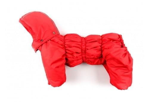 Комбинезон Ред утепленный на синтепоне с капюшоном для собак породы бигль, шарпей, чау-чау, кокер спаниель, английский бульдог