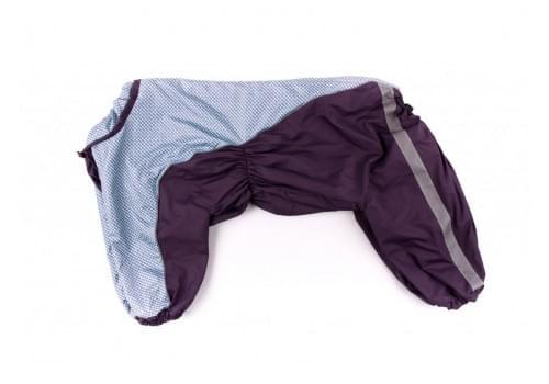 Дождевик Фиолетовая клетка весенне-осенний для собак породы шарпей, амстафф, бультерьер, лабрадор, ретривер, колли, хаска