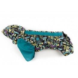 Дождевик Веселье осенний с капюшоном для собак