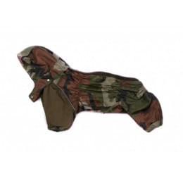 Дождевик Серо/коричневый камуфляж с капюшоном