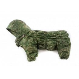 Комбинезон Дутик Камуфляж зимний на синтепоне с капюшоном для собак
