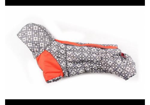 Комбинезон Taksik зимний на синтепоне и флисе с капюшоном для собак породы такса и вельш корги