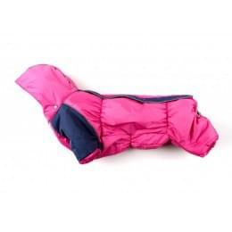 Комбинезон Розовый зимний на синтепоне и флисе с капюшоном для собак
