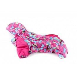 Комбинезон Ассорти зимний на синтепоне и флисе с капюшоном для собак