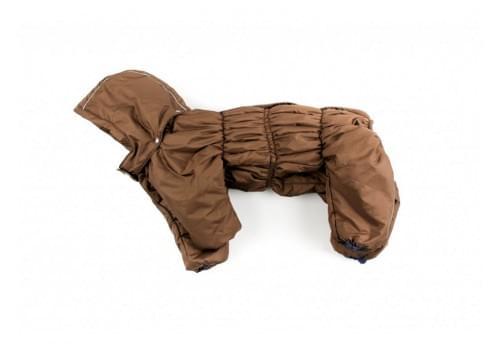 Комбинезон BrownCarry зимний на синтепоне с капюшоном для собак породы бигль, шарпей, чау-чау, кокер спаниель, английский бульдог