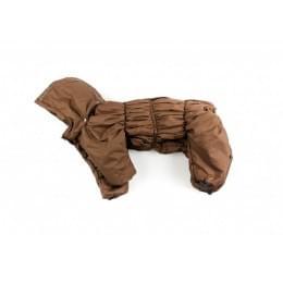 Комбинезон Brown утепленный на синтепоне с капюшоном для собак