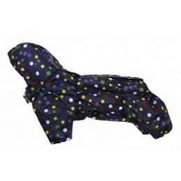 Комбинезон Снежок зимний на синтепоне и флисе с капюшоном для собак