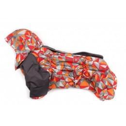 Комбинезон Цифры зимний на синтепоне и флисе с капюшоном для собак