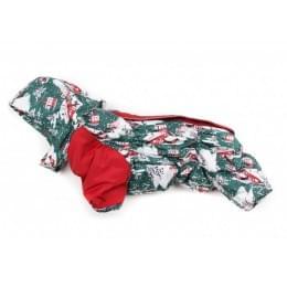 Комбинезон New year теплый на синтепоне и флисе с капюшоном для собак