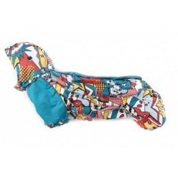 Комбинезон Comics теплый на синтепоне и флисе с капюшоном для собак
