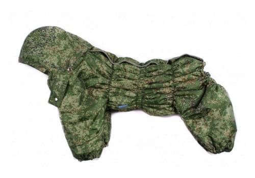 Комбинезон Carry зимний на синтепоне с капюшоном для собак породы бигль, шарпей, чау-чау, кокер спаниель, английский бульдог