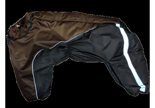 Комбинезон GreyBrown утепленный на синтепоне для собак породы амстафф, бультерьер, некрупный далматин, шарпей, колли