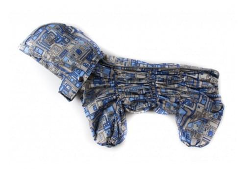 Дождевик WindOne осенний с капюшоном для собак породы вест хайленд терьер, джек рассел, фокстерьер, цвергшнауцер, шотландский терьер