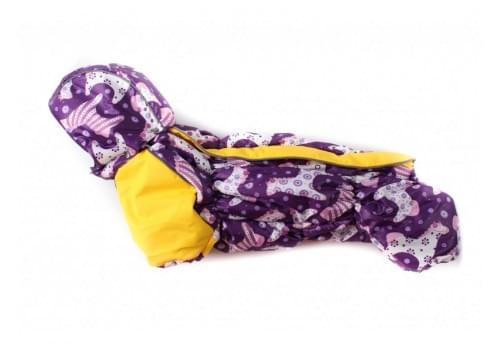 Комбинезон Лошадки зимний на синтепоне и флисе с капюшоном для собак породы такса и вельш корги
