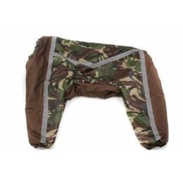 Комбинезон Camouflage Brown теплый на синтепоне для собак
