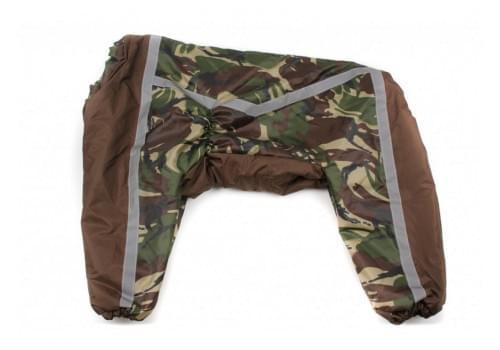 Комбинезон Camouflage Brown теплый на синтепоне для собак породы лабрадор, ретривер, далматин, боксер, доберман, кане корсо, овчарка, риджбек, хаски