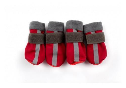 Ботиночки Красные ZA для собак