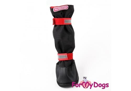 Ботиночки Черно-красные  для собак средних и больших пород