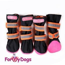 Ботиночки Черно-оранжевые