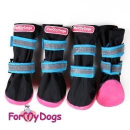 Ботиночки Черно-голубые