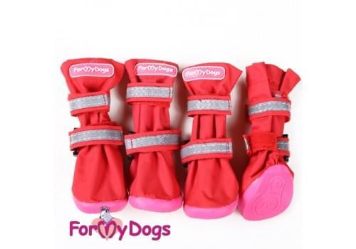 Ботиночки Красные  для собак средних и больших пород