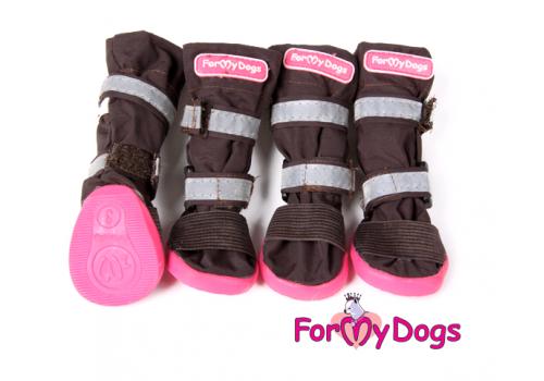 Ботиночки Коричневые  для собак средних и больших пород
