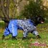 Комбинезон Кружки утепленный для собак породы мопс, французский бульдог, бигль, вест хайленд терьер, джек рассел, кокер спаниэль, фокстерьер, цвергшнауцер, шарпей, шотландский терьер, пудель, амстафф, бультерьер, лабрадор, ретривер