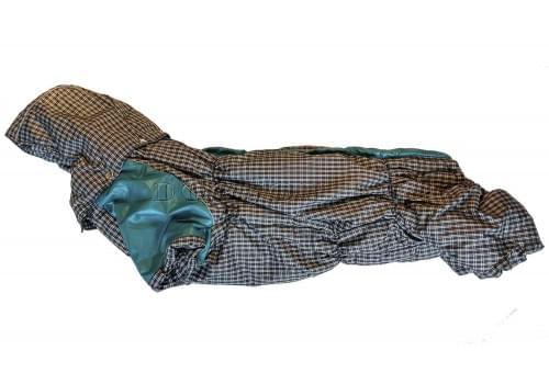 Комбинезон Бирклет зимний на синтепоне и флисе с капюшоном для собак породы такса, вельш корги