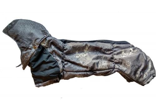 Комбинезон Columbus-2 зимний на синтепоне и флисе с капюшоном для собак породы такса и вельш корги