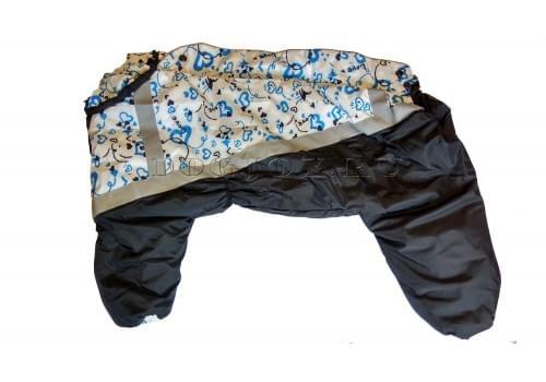 Комбинезон Love теплый на синтепоне для собак породы мопс, французский бульдог, бигль, вест хайленд терьер, джек рассел, кокер спаниэль, фокстерьер, цвергшнауцер, шарпей, шотландский терьер, пудель