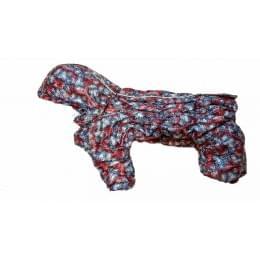 Комбинезон Палитра зимний на синтепоне и флисе с капюшоном для собак